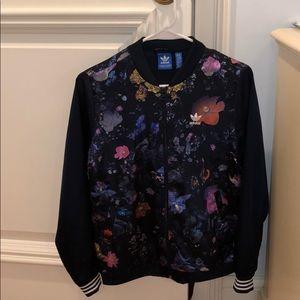 Adidas Floral Bomber Jacket